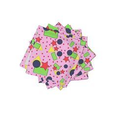 Meet the Frizzle cloth cocktail napkin set of 4 adorable Shapes For Kids, Basic Shapes, Cocktail Napkins, Napkins Set, Natural Texture, Spoonflower, Cotton Canvas, Color Pop, Organic Cotton