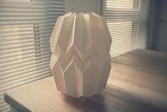 abat-jour papier blanc design bricolage origami déco papier lampe