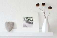Matted flower photography white grey tender by lumieredumatin, $15.00