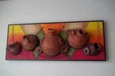 cuadros con texturas abstractos frutas - Buscar con Google Clay Wall Art, Mural Wall Art, Framed Wall Art, Diy Crafts Slime, Clay Crafts, Sculpture Painting, Mural Painting, Art N Craft, Craft Work