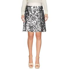 Dolce & Gabbana Knee Length Skirt ($520) ❤ liked on Polyvore featuring skirts, silver, white sequin skirt, dolce gabbana skirt, white knee length skirt, knee length skirts and knee length sequin skirt