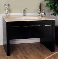 """55 ¼"""" Bellaterra Home Bathroom Vanity 804380-CR #BellaterraHome #HomeRemodel #BathroomRemodel #BlondyBathHome #BathroomVanity"""