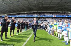 Wenger was greeted with a guard of honour as he walked out for his last game as Arsenal ma...