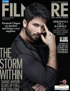 Shahid Kapoor on Filmfare Magazine October 2014 Cover good god he is good looking