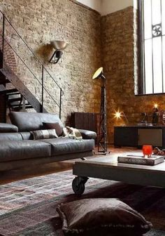 GET THE PERFECT INDUSTRIAL STYLE LIVING ROOM WITH THIS ITEMS_See more inspiring images at www.delighfull.eu