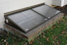 Home Window Well Covers as well as Grates: The Definitive minutes read - DIY Home Design Egress Window Well Covers, Basement Window Well Covers, Basement Windows, Bulkhead Doors, Roof Light, Home Landscaping, Glass Boxes, Patio, Backyard