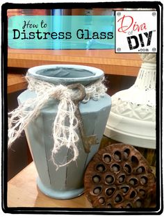 How to Distress Glass with Paint | Diva of DIY