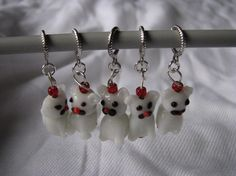 Cat stitch markers for knitting by KatKeRosCorner on Etsy, $10.00