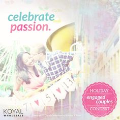 It's here! Our Holiday Engaged Couples contest is accepting couple photo submissions until this Mon, 12/10 - just submit your photo on our Koyal Wholesale Facebook page! #koyalchristmas #koyalwholesale
