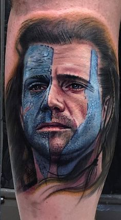 William Wallace portrait tattoo by Kelvin. Limited appointments available at Revival Tattoo Studio.