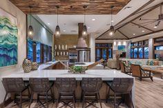 Designed by Faulkner Design Group #kitchen #luxury #clubroom #faulknerdesigngroup #interiordesign #multifamily #apartmentdesign #apartmentinspiration #apartment