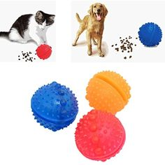 Iuhan 1PC Pets Tumbler Leakage Food Ball Pet Training Exercise Pet Fun Bowl Tasty Toy (Color Random) ** You can get more details by clicking on the image. (This is an affiliate link) #Dogs