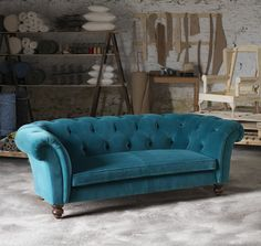 i must have it velvet teal chesterfield sofa this will be my home rh pinterest com teal leather chesterfield sofa teal green chesterfield sofa