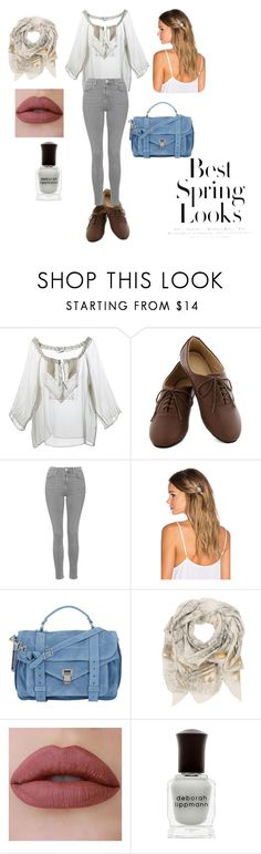 """Untitled #33"" by rayjulianna ❤ liked on Polyvore featuring Ermanno Scervino, Topshop, Lelet NY, Proenza Schouler, Sophie Darling, Deborah Lippmann and H&M"