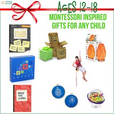 Need ideas for Christmas presents for teens? Here are some #MontessoriInspiredGifts specifically for 12 to 18-year-olds. #MontessoriRocks