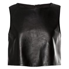 TIBI Leather Cropped Top found on Polyvore
