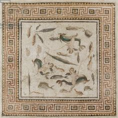 Marine mosaic from Turkey, Imperial Period, 200-230 (mosaic). Roman, (3rd century AD) / Museum of Fine Arts, Boston, Massachusetts, USA