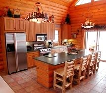 Our log home - the kitchen area