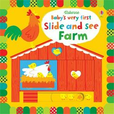 Babies will love looking at the bright pictures in this delightful book and seeing what appears when they move the sliders.