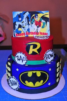 Fabulous Pictures Of Batman And Robin Cakes Share Kids Birthday Personalised Birthday Cards Vishlily Jamesorg