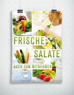 Frische Salate auch zum Mitnehmen - Plakat - P-FP-0038 | Plakate | Werbedesigns | Despri