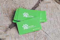 Plastic business card design for Bark Park. Plastic cards are perfect to be used as membership card.