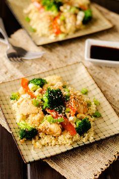 sweet heat cashew chicken and quinoa