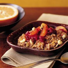 Multigrain Hot Cereal with Cranberries and Oranges Recipe   Martha Stewart