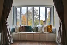 Lovely bay window seat with great views at this apartment in My Ideal Home, Home, Dream Apartment, Spacious, Bay Window, Property, Bay Window Seat, Bedroom, Window Seat