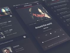 Philomela – iPhone 6 Music Player is such a lovely #music player #freebie that contains 9 different screens.