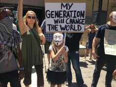 SouthAfrica #CapeTown: #N5 #MillionMaskMarch #Nov5th #Anonymous In Mandela Square
