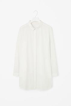 Overlap-back poplin shirt