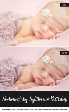 The Best Newborn Baby Lightroom presets and brushes, Photoshop actions and ACR presets. All in one for better edits.