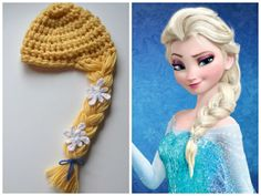 Disney Frozen Elsa baby crochet hat Disney princess by JacqsCrafts, $22.00 Do they make adult size?