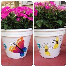 Footprint Mother's Day flower pot!