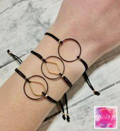 Circle charm bracelet friendship bracelet macrame by MarKiJewelry