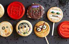 The cutest emoji cookie cutters you will ever see for Halloween.