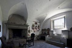 """A rare photograph of a lower level room in Villa Foscari (""""La Malcontenta"""")."""
