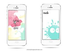 It never gets old to create wallpaper for phones, especially when I want to make something fun and colorful. These two wallpapers are super cute and fun, simply download them to your phone and save them as wallpaper. Wallpaper size is 640 x 1136 made to fit on an iPhone 5 or 5S