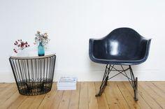 Rocking Chair Eames Navy Blue ou Dark Blue