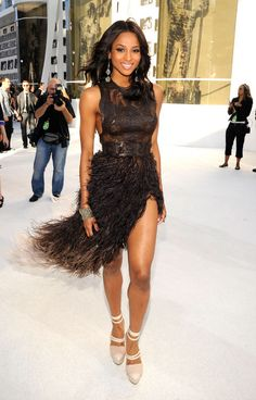 Fashion Flashback: The Best Looks from the MTV VMAs 2010: Ciara in feathery Givenchy Haute Couture.