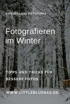 Fotografieren im Winter