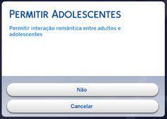 Nathys Sims: MOD - Relacionamento de Adolescentes com Adultos