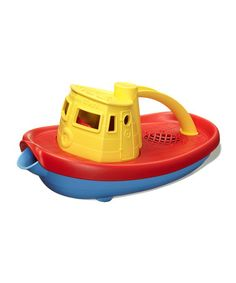 Look what I found on #zulily! Yellow Recycled Tugboat #zulilyfinds