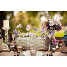 Bohemian Tablescape Inspiration Shoot ❤ liked on Polyvore featuring pictures