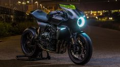 The Honda CB4 Interceptor Concept Motorcycle shown at EICMA 2017 Motorcycle Show
