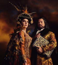 From the Met's new production of The Enchanted Island, Joyce DiDonato,Sycorax and David Daniels, Prospero.