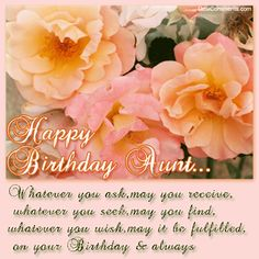 81 best birthday aunt images on pinterest happy birthday greetings birthday wishes for aunt pictures images graphics for facebook myspace hi5 m4hsunfo