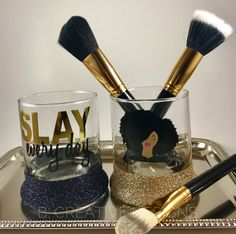 Etsy Beauty Products For Black Girls Makeup Brush Holder - 11 Unique Etsy Beauty Finds Sprinkled With Black Girl Magic Makeup Jars, Makeup Brushes, Makeup Tools, Makeup Storage, Makeup Organization, Sephora, Make Makeup, Makeup Geek, Makeup Brush Holders