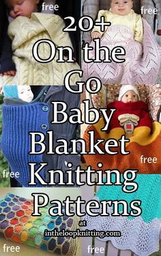 Knitting Patterns for On the Go Baby Blankets